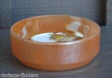 Vintage Marigold Opalescent Lusterware Glass Bowl Ovenware J-2640 Kitchen Tool