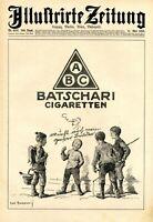 Batschari Zigaretten Baden Baden XL Reklame 1923 Ivo Puhonny Lausbuben Kreisel