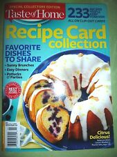 Taste of Home~Collector's Edition RECIPE CARD COLLECTION New 2015 FREE SHIPPING
