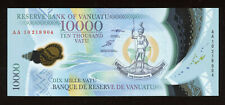 2010 Vanuatu 10000 Vatu - POLYMER, AA-Prefix, P-13, Uncirculated