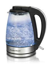 Electric Water Kettle Glass Tea Pot Hot Boiler Portable Hamilton Beach New