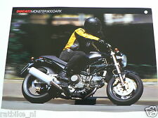D675 BROCHURE DUCATI MONSTER 900 DARK ENGLISH 2 PAGES 1999