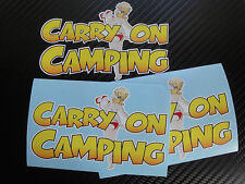 Carry on Camping Barbara Windsor Sticker, VW Camper van, Bay, split, T2 T4 T5