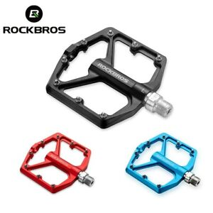 """ROCKBROS Bicycle Pedals Alu 9/16"""" Non-Slip Sealed Bearing Cycling Flat Pedals US"""