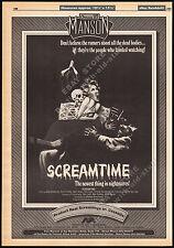 SCREAMTIME__Original 1983 Trade AD movie promo_poster__DORA BRYAN__DAVID VAN DAY