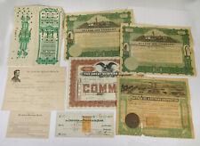 Lot Of Vintage U.S.A. Mining Stock Certificates, Receipts, Related Ephemera