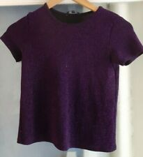 candy couture sparkly purple top age 12-13