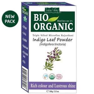 Indus Valley Organic Indigo Powder Hair Color - 100Gm + Free Shipping WorldWide
