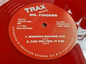 """MR FINGERS - WASHING MACHINE  IT 12"""" RED VINYL TRAX NEW HOUSE CLASSIC"""