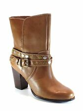 Fossil FFW4350 Didi Belted Bootie Luggage Brown Leather Ankle Boot NEW Size 9.5