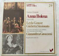 ANNA BOLENA GAETANO DONIZETTI LP LEYLA GENCER SIMIONATO VINYL ITALY 1981 NM/NM