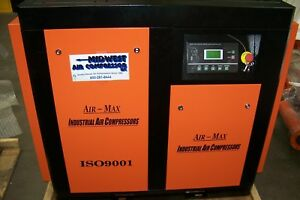 Air-Max 30 hp. 220 Volt Variable speed drive Industrial Rotary Screw Compressor
