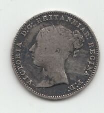 More details for very rare 1868 silver threepence 3d queen victoria great britain - rritanniar