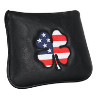 Lucky Clover & Flag Square Mallet Putter Head cover for TaylorMade Spider Tour