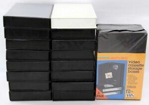 19 VHS Empty Hard Shell Cases