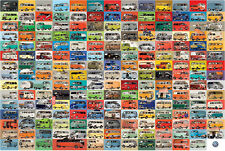Awesome 194 GROOVY VOLKSWAGEN BUSES VW Vans POSTER