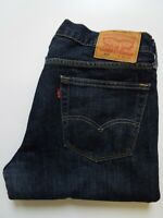 LEVI'S 559 JEANS MEN'S RELAXED STRAIGHT LEG W34 L30 DARK BLUE STRAUSS LEVS051