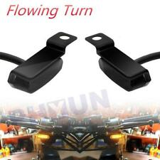 2PCS Universal Mini LED Motorcycle Turn Signal Light Brake Clutch Lever Flashers