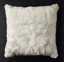 "20"" x 20"" white baby  Alpaca fur pillow cover - one side handmade in Peru"