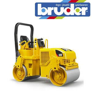 Bruder Cat Asphalt Drum Compactor Tarmac Construction Kids Toy Model Scale 1:16