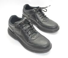 Womens Rockport Lace Up Comfort Shoes Size 8N US Black Pebbled Leather 8 Narrow