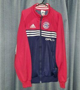 BAYERN MUNICH Adidas 90's Jacket Training Jumper Nt Football Shirt Sweater M Top
