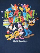 DISNEY WORLD - IT'S MY BIRTHDAY - MICKEY MOUSE CAKE  SMALL NAVY BLUE T-SHIRT H81