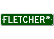 FLETCHER Street Sign - Personalized Last Name Sign