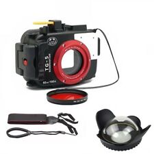 Seafrogs 195ft Underwater Camera Housing Case for Olympus TG5 + Dome Port Lens