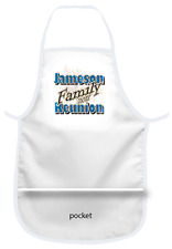 QTY 1 FAMILY REUNION APRON WITH POCKET PERSONALIZED FOR YOUR REUNION OR EVENT