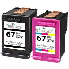 Replacement HP 67XL XXL Black & Color Ink for Deskjet Plus 4140 4152 4155 4158