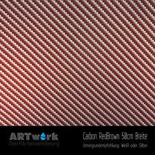 Wassertransferdruck Folie WTD Carbon RedBrown 1m x 50cm Breite