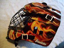 Franklin Goalie Mask Street Extreme Comp Gfm100 Back Plate Flames Metal Cage