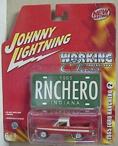 Johnny Lightning Working Class 1965 Ford Ranchero with license red and white