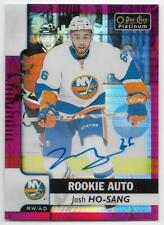 17/18 O-PEE-CHEE PLATINUM RED PRISM ROOKIE AUTOGRAPH #RJH Josh Ho-Sang #28/50