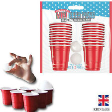 22pc Mini Beer Pong Set Party Drinking Game Red Cup Beerpong Xmas Indoor G3366UK