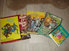 NEW lot of 4 WIZARD OF OZ books record album 1 Russian Book Golden Book