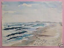 4v8: Impressionismus Aquarell Gemälde Adria weiter Strand Marotta Italy Weihmann