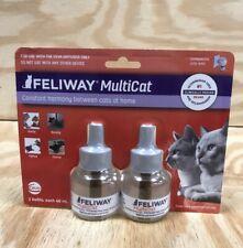 New listing Feliway MultiCat Diffuser Refills - 2 pack 48 ml each - Upc: 5000259304