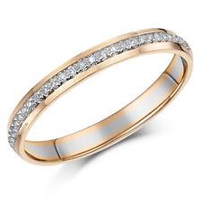 3mm 9ct Rose & White Gold 15 Point Diamond Eternity Ring