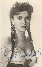 Autographe Original: GINA LOLLOBRIGIDA  / Vintage.