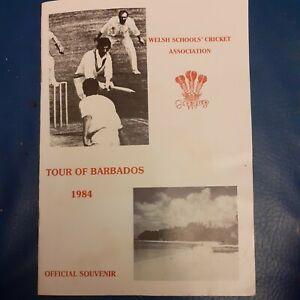 Welsh Schools Cricket Tour of Barbados 1984 Programme
