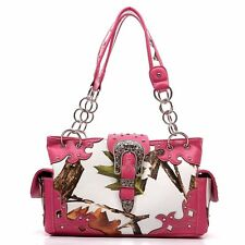 Designer inspired handbag Western Buckle Camouflage Shoulder Bag