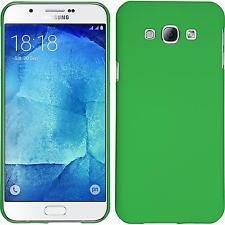 Custodia Rigida Samsung Galaxy A8 (2015) - gommata verde + pellicola protettiva