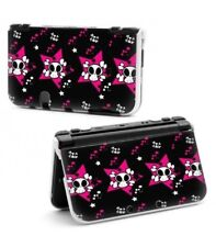 Coque NEW 3DS XL Tete Mort Rose Coeur Pois Blanc Love Skull