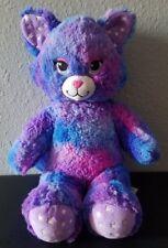 "Build A Bear 17"" Plush Stars A Glow Kitty Cat Purple Glow In The Dark BABW"