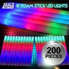 200 Pcs Light Up Foam Sticks Led Wands Rally Rave Batons Dj Flashing Glow Stick