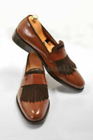 Handmade Men's Leather Latest Style Unique Dress Loafers and slip ons Shoes