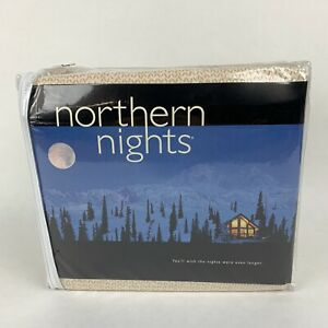 QVC Northern Nights 100% Cotton Brushed Flannel Twin Sheet Set Forest Bear Deer