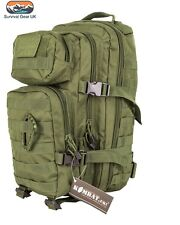 Kombat Green Small Assault back pack / daysack 28 Litre Airsoft Tactical